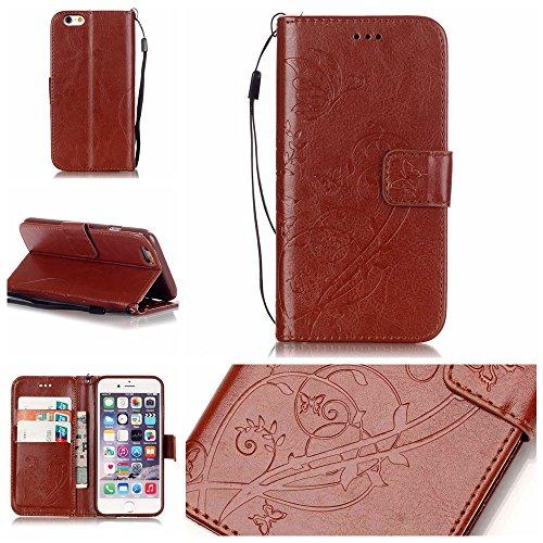 Nutbro LG Spirit Case, Folio Flip Premium PU Leather [Wallet Case] with Built-in Media Stand ID Credit Card/Cash Slots for LG Escape2 C70/ LG Spirit H440 H420 Media Wallet