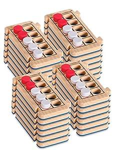 Set de 24 cuadrículas de diez casillas de espuma Rekenrod de Learning Resources (set para el aula)