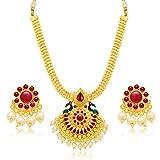 Sukkhi Resplendent Gold Plated Necklace ...