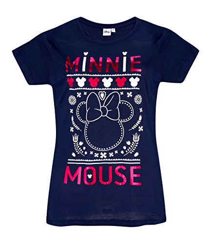 Disney Minnie Tee-Shirt Bleu Marine (M)