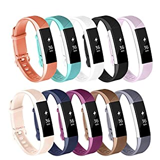AdePoy Replacement Strap Bands Compatible For Fitbit Alta/Alta HR, Adjustable Sport Smartwatch Fitness Wristband for Women Men 10 pack Small