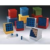 DUTSCHER 142436-Inserto para congelación de cajas de cartón, tamaño: 122 x 237 x 128 mm, 5 tubos de 10 x 15 mL