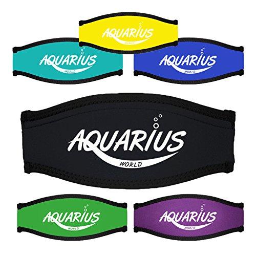 Neopren - Maskenbandhülle - Maskenband - Mask strap cover - Aquarius World - Schwarz