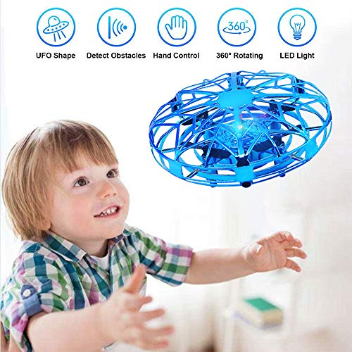 UFO Mini Drohne, Vivibel Kinder Spielzeug Handsensor Quadcopter Infrarot-Induktions-Flying Ball Fliegendes Spielzeug Geschenke für Jungen Mädchen Indoor Outdoor Fliegender Ball