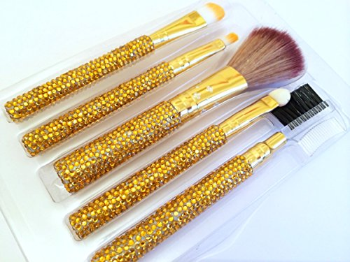 Diamante à lèvres cosmétique sourcils professionnel pinceau de maquillage kit de voyage 5 pièces