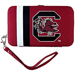NCAA South Carolina Fighting Gamecocks Shell Wristlet, 3.5 x 0.5 x 6-Inch, Red