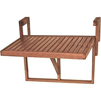 Unbekannt Balkon Hänge Tisch 100% FSC Eukalyptus geölt Außen Möbel höhen tiefen verstellbar Harms 985089