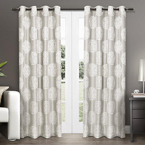 108 Fenster-vorhang Rod (Exclusive Home Vorhänge AKOLA Vorhang Panel Paar, Taube grau, 54x 274cm, 2-teilig)