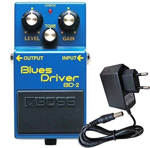 Boss BD de 2Blues Driver Efecto dispositivo para guitarra Keepdrum Fuente 9V