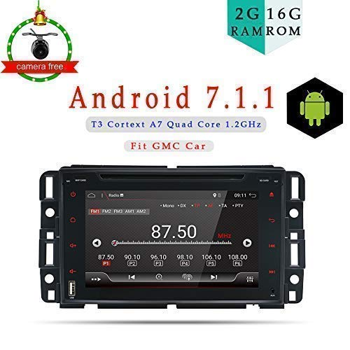 a6054e1395a 17.8cm Android 7.1 Quad Core In Dash Double Din Car Stereo GPS Navigation  For GMC