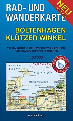 Preisvergleich Produktbild Rad- und Wanderkarte Boltenhagen, Klützer Winkel: Mit Kalkhorst, Redewisch, Wohlenberg, Damshagen, Rolofshagen. Maßstab 1:30.000. Wasser- und reißfest.