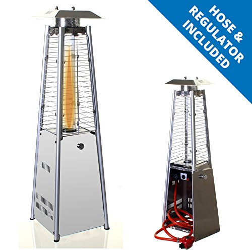 Marko Outdoor Garden Table Top Patio Heater Stainless Steel Pyramid Outdoor Gas Powered 3KW