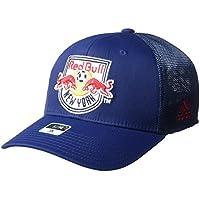 adidas New York Red Bulls MLS Corner Kick Structured Flex Mesh Back Hat  Cappello ff6a795ded2b