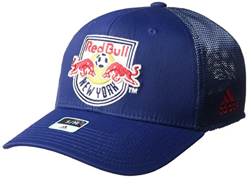 adidas MLS SP17 Fan Wear Tactel Trucker Flex Gap, Herren, MLS SP17 Fan Wear Tactel Trucker Flex Cap, Navy, Large/X-Large Tactel Flex-cap