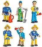 Simba Toys - Feuerwehrmann Sam - alle 6 Spielfiguren als Komplettset im Ei mit Zubehör