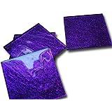 Fused Glass Purple Glitter Coasters set of 6