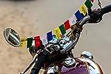 Les mantras de prière tibétain bouddhiste Drapeau OM Mani Padme Hum pour vélo et de voiture