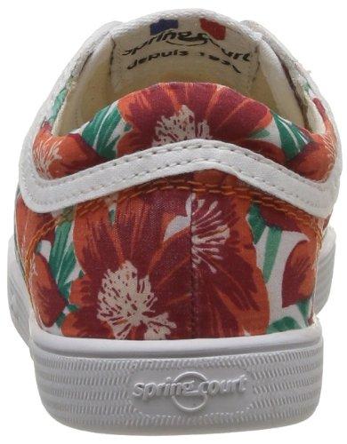 Springcourt Ge1 L Jungle, Unisex - Kinder Sneaker Rot - Rouge (134 Corail)
