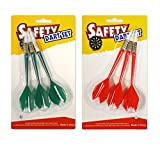 Soft Tip Darts - Fit for ActionDart Safety Dartboard only - 3 Darts Each in Green and Red