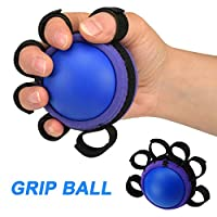 Tjackson Finger Grip Ball Hand Finger Strength Massage Equipment Muscle Power Training Fitness Gripper, Exercise Gel Balls, muscle strength training rubber ball