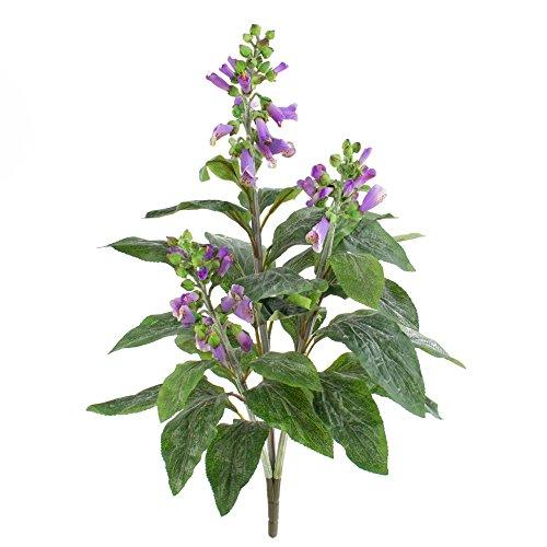 artplants Kunstblume Fingerhut mit 30 Blättern, 3 Blütenrispen, lila, 60 cm - Künstliche Blumen/Deko Pflanzen