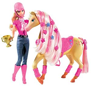 Mattel barbie p7525 0 poup e barbie et son cheval - Jeux de barbie avec son cheval ...