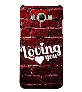 Fuson Designer Back Case Cover for Samsung Galaxy On8 Sm-J710Fn/Df (Loving you theme)