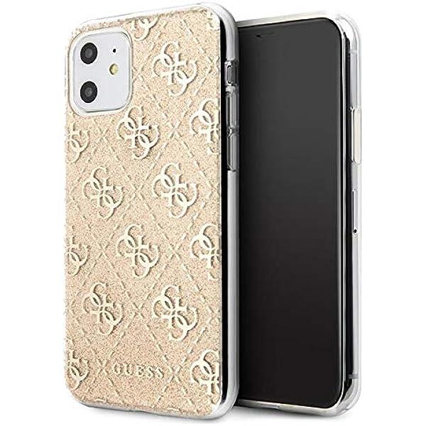 Guess Hülle Aus Der 4g Glitter Kollektion Für Das Iphone 11 Gold