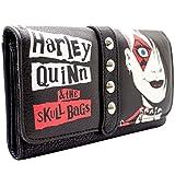 Harley Quinn The Skull Bags Clouté Noir Portefeuille