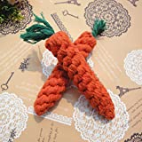 PERIWIN Hundespielzeug, buntes Baumwoll-Geflochtenes Seil Faden Karotte Kauen Spielzeug