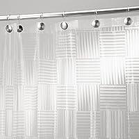 mDesign Glass Block Tenda Doccia Senza PVC in EVA Calibro 5.5, 180 x 180 cm - Ghiaccio