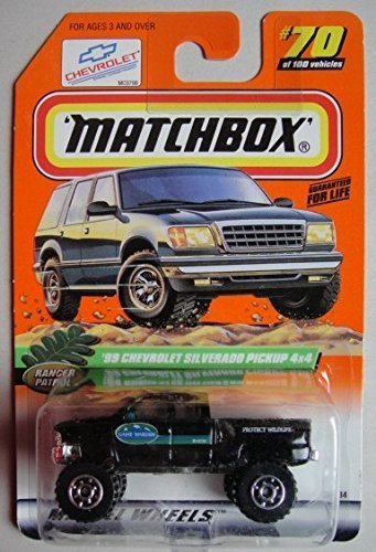 matchbox-ranger-patrol-black-99-chevrolet-silverado-pickup-4x4-70-by-matchbox