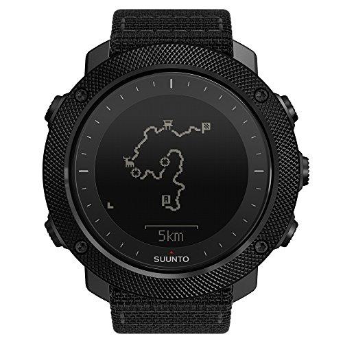 Suunto TRAVERSE ALPHA - Reloj GPS de exterior para pesca, caza y excursionismo, hasta 100 horas de batería, sumergible, color negro