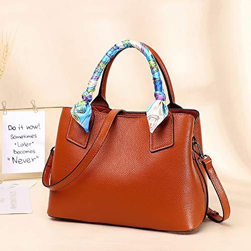 BSTLY Rucksack Reiserucksack Bag Weiblichen Schulter Umhängetasche Mode Lederhandtasche Mutter Tasche Einfache Dame Handtasche Khaki