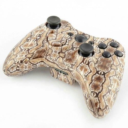 Designer Hydro Eingetaucht Controller Ersatz Shell für Xbox 360Braun Schlange Haut (360-controller Shell Und Xbox)