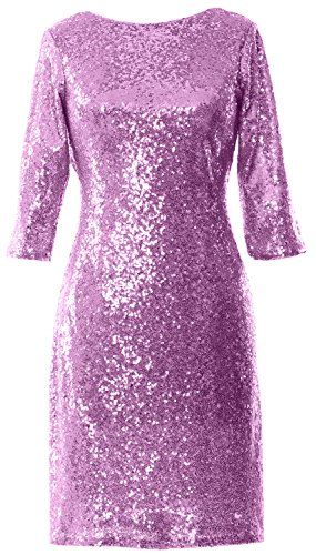 MACloth -  Vestito  - linea ad a - Maniche corte  - Donna Pink 36