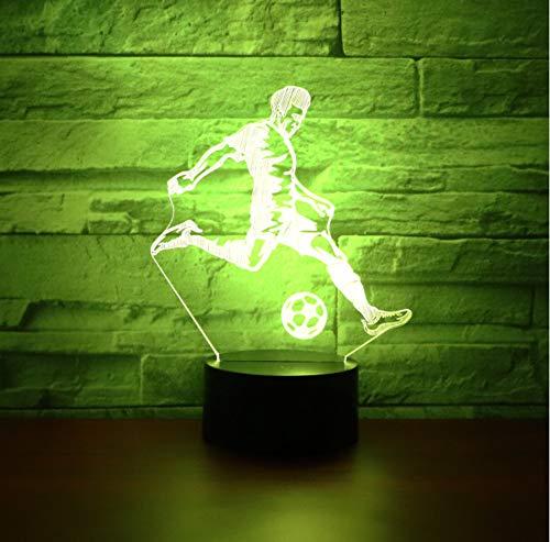 optische Täuschungslampe LED Nachtlicht Fußball spielen mit 7 Farben Licht für Hauptdekoration Lampe Erstaunliche Sichtbarmachung Optische Täuschung Ehrfürchtiges 3D