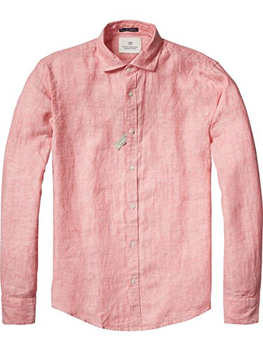 Scotch & Soda Hochwertiges Leinenshirt Rosa