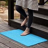 MKSFY Rutschfeste saugfähige Bodenmatte Tür Matte Kann Draht Kreis PVC Teppich Matte für Badezimmer Küche Studie Schlafzimmer Korridor Eingangstür Wohnzimmer 50 cm * 80 cm, Blau