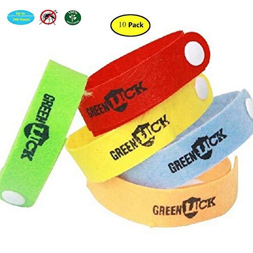 YOLANDE 10 Stück Mückenschutz Armband, Anti Mosquito Bracelet Repellent Wristband natürlichen Öl Sicheres Deef-Freies und Wasserdichtes Insektenschutz-Armband für Kinder, Erwachsene