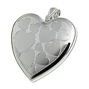 Anhänger Medaillon Herzen, Kettenanhänger – 925 Silber