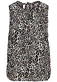 ONLY Leo Damen Top Blusenshirt Kurzarm-Bluse Mit Rundhalsausschnitt, Größe:38, Farbe:AOP Leo