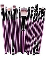 Cdet 15PCS Pinceau de maquillage Professionnel Teint Eyebrow Shadow Makeup Blush Kit Pinceau Ensemble brosse à maquillage Brosse à maquillage Maquillage Outils