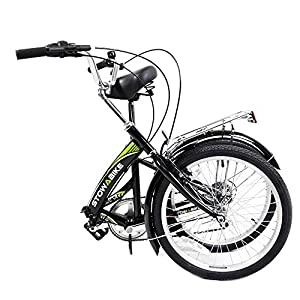 "Stowabike 20"" Folding City V2 Compact Foldable Bike -6 Speed Shimano Gears by Stowabike"