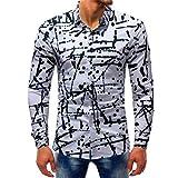YunYoud Slim Shirts Tops Printed Bluse Casual Langarm Männer neue Stil baumwollhemden herren kurzarm hemd blau hemden kariert langarm kurzarmhemden weiß flanellhemd