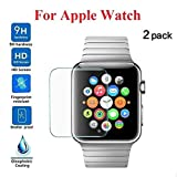 [2 Stück]Aottom für Apple Watch 42mm Schutzfolie HD Panzerglas Folie Screen Protector 9H Härte Displayschutz Volle Abdeckung [Blasenfreie] Full Screen Panzerglasfolie für Apple Watch Series 3/2/1