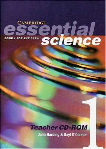 Cambridge Essential Science Book 1 Teacher CD-ROM: Book 1 for the CSF II: Bk. 1