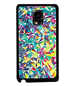Fuson Designer Back Case Cover for Samsung Galaxy Note Edge :: Samsung Galaxy Note Edge N915Fy N915A N915T N915K/N915L/N915S N915G N915D (Traingles Irregular Triangles Small Triangles White Pink)