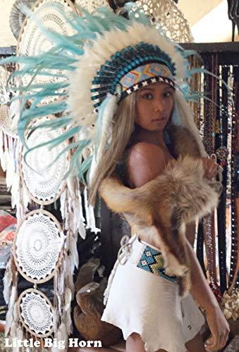 Indianer Kostüm Brustpanzer - Little-Big-Horn Indianer Kopfschmuck, Federhaube, War Bonnet, Bulzeye Headdress, Coiffe Indienne
