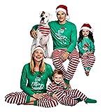 Hibote Familie passende Weihnachten Pyjama Set - Papa Mama Kinder Baby Nachtwäsche
